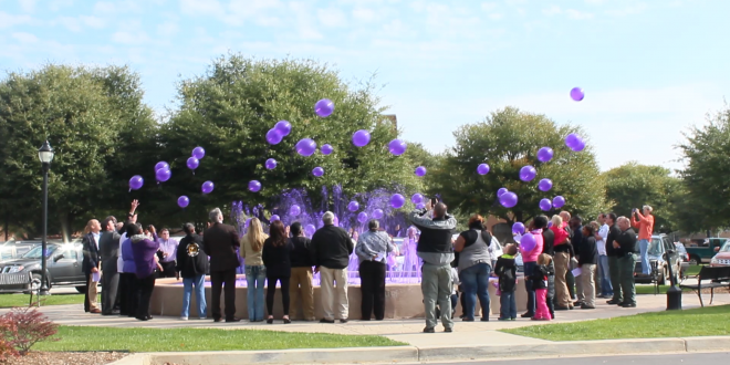 Balloon Release for domestic abuse victims