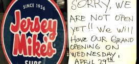 Jersey Mike's opening April 29
